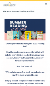 Allen & Unwin books – Win 5 Book Packs Featuring Your Most-Wanted Books