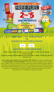 """Allen's Scratch and – Win Free Fuel Promotion (""""the Promotion"""") (prize valued at $6,000)"""