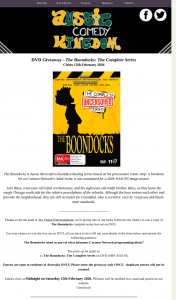 Aussie Comedy Kingdom – Win a Copy of The Boondocks Complete Series Box Set on DVD