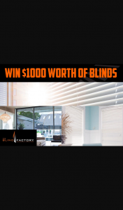 3AW – Win $1000 Worth of Designer Quality Blinds Thanks to The Blind Factory (prize valued at $1,000)