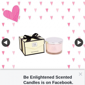Be Enlighted Candles – Win a Luxury Candle Valued at $159.99 for Valentine's Day (prize valued at $159.99)