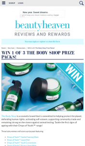 Beauty Heaven – Win 1 of 3 The Body Shop Prize Packs