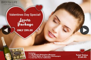Body for Life – Win Valentines Gift Package (prize valued at $169.95)