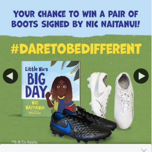 Booktopia – Win Signed Nike Boots