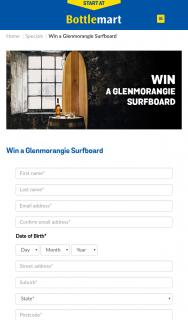 Bottlemart-SipNSave – Win a Glenmorangie Surfboard (prize valued at $8,000)