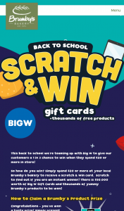 Brumby's Back to School – Win Game Materials Void If Stolen (prize valued at $133,248)