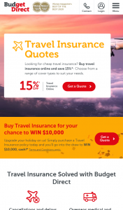 Budget Direct – Win a $10000 Electronic Funds Transfer 'prize' (prize valued at $10,000)