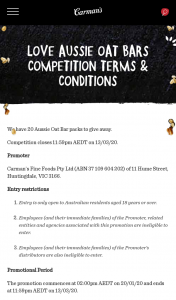 Carmans – Win Pack to The Value of RRP $50 (prize valued at $400)