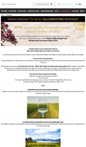 Cellarmasters – Win a Luxury Marlborough Escape Valued at Over $8000 (prize valued at $8,751)