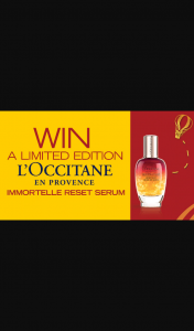Channel 7 – Sunrise – Win a Limited Edition L'occitane Immortelle Reset Serum