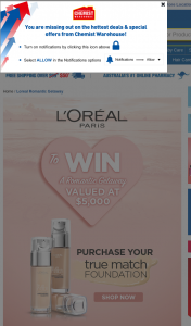 "Chemist Warehouse – Win a $5k Valentine's Day Getaway Terms & Conditions (""conditions of Entry"") (prize valued at $5,000)"