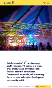 City of Ipswich – Win a Double Season Pass With General Camping at Earth Frequency Festival [closes 10am] (prize valued at $740)