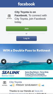 City Toyota – Win Double Pass Same Day Return Sealink Rottnest Island