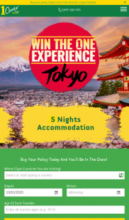 1Cover Insurance -Purchase a Travel Policy & – Win a 5-night/6-day Japan Getaway for Two People As Set Out Below (prize valued at $20,000)