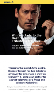 Discover Ipswich – Win 2 Tickets to The Best of Buble Tribute Experience