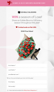 Edible Blooms – Win Gift $500 Prize Value
