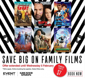 Event Cinemas – Win Family Pass