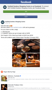 Fairfield Gardens Shopping Centre – Win a $100 Grilld Card Must Collect Brisbane (prize valued at $100)