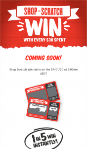Foodland-IGA/Supa IGA- Scratch & – Win an Instant (prize valued at $1.7)