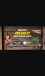 Fresh927 – Win Adelaide's Freshest Long Weekend Party