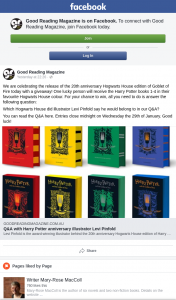 Good Reading Magazine – Win Harry Potter Books 1-4 In Their Favourite Hogwarts House Colour