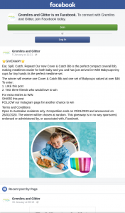 Gremlins and Glitter – Win Bibs and Cups (prize valued at $46)