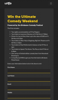 Hit 105-Lowd – Win The Ultimate Comedy Weekend