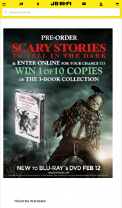 JB HiFi Pre-order a copy of Scary Stories to Tell In The Dark – Win 1 of 10 Copies of The 3-book Collection (prize valued at $450)