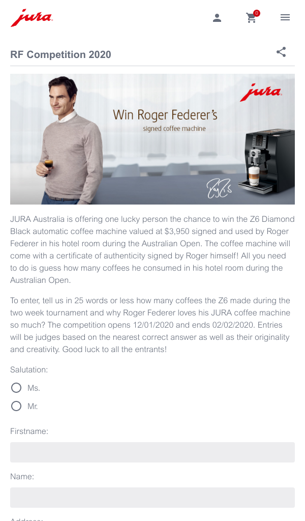 Jura Australia Win The Z6 Diamond Black Automatic Coffee M