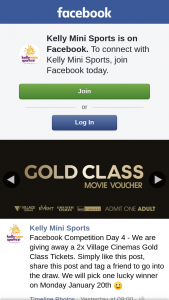 Kelly Mini Sports – a 2x Village Cinemas Gold Class Tickets