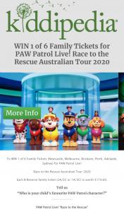 Kiddipedia – Win 1 of 6 Family Tickets (newcastle