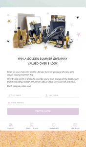 LeBeauty – Win a Golden Summer Giveaway (prize valued at $1,000)