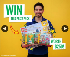 Legoland Discovery Centre Melbourne – Win a Bricktastic Lego® Prize Pack Worth $250 RRP (prize valued at $250)