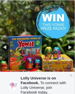 Lolly Universe – Win a Box of Wild Water Yowie (prize valued at $30)