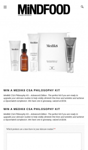 MindFood – Win a Medik8 Csa Philosophy Kit (prize valued at $334)