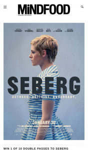 Mindfood – Win 1 of 10 Double Passes to Seberg (prize valued at $40)