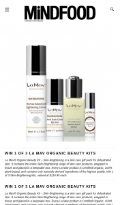 MindFood – Win 1 of 3 Skin-Brightening Kits (prize valued at $119.95)