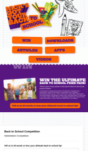 Nickelodeon – Win Component In Item 15 Instant Win (prize valued at $12)