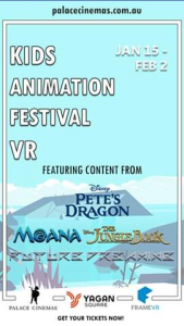 Palace Cinemas – 2 X Family Passes to The Animation Festival Vr 2020