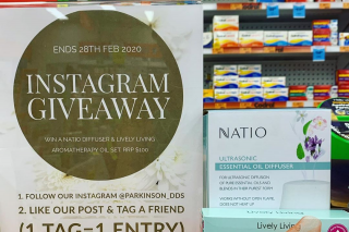 Parkinson Discount Drug Store – Win a Natio Diffuser & Aromatherapy Set (prize valued at $100)