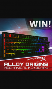 PC Case Gear – Win a Hyperx Alloy Origins Rgb Mechanical Gaming Keyboard (prize valued at $175)