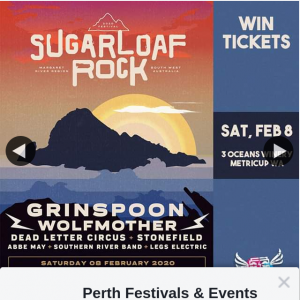 Perth Festivals & Events – Win a Double Pass to Sugarloaf Rock Festival on Saturday