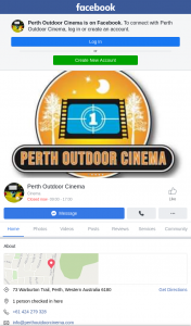 Perth Outdoor Cinema – Win 2.5m Outdoor Cinema Package for 24 Hrs