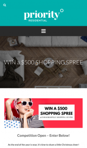 Priority Residential $500 Shopping Gift Card Competition Property appraisal Brisbane – Win a $500 Gift Card to Indooroopilly Shopping Centre (prize valued at $500)