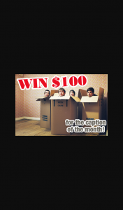 Readers Digest – Win $100 – Caption Funny Photo