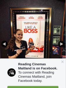 Reading Cinemas Maitland – Win a Double Pass to See Like a Boss