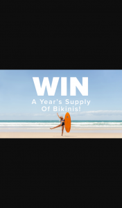 Rip Curl Women – Win 1 of 3 Year's Supply of Bikinis With Rip Curl Women (prize valued at $3,000)