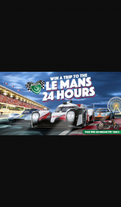 Shannons – Win a 15-day Trip for Two to The 2021 Le Mans 24 Hours (prize valued at $24,995)