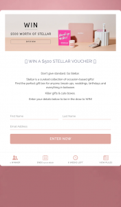 STELLAR – Win a $500 Stellar Voucher (prize valued at $500)