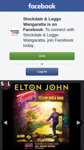 Stockdale & Leggo Wangaratta – Win Double Pass Sir Elton John a Day on The Green Wed Jan 29 All Saints Estate